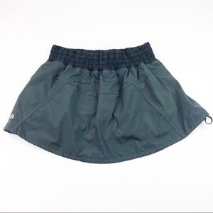 Lululemon Black Quick Pace Skirt Skort Size 8
